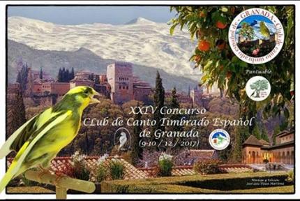 Cartel del concurso de canto de pájaros 2017.