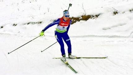 Victoria Padial en un momento de la prueba de Sprint en Orsblie