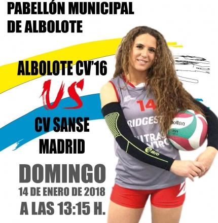 Cartel anunciador del próximo partido en casa del Albolote CV`16