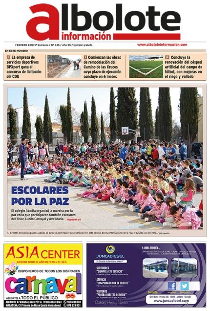 Portada de la nueva edición impresa del periódico local Albolote Información