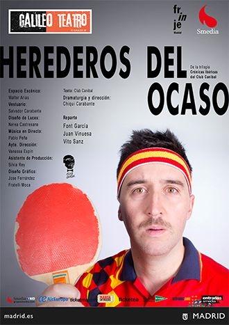 Cartel del teatro Herederos del ocaso