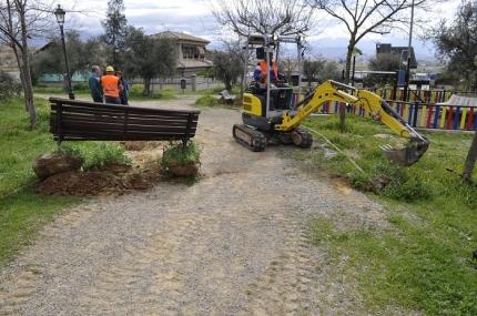 Inicio de las obras de arreglo del parque de Buenavista
