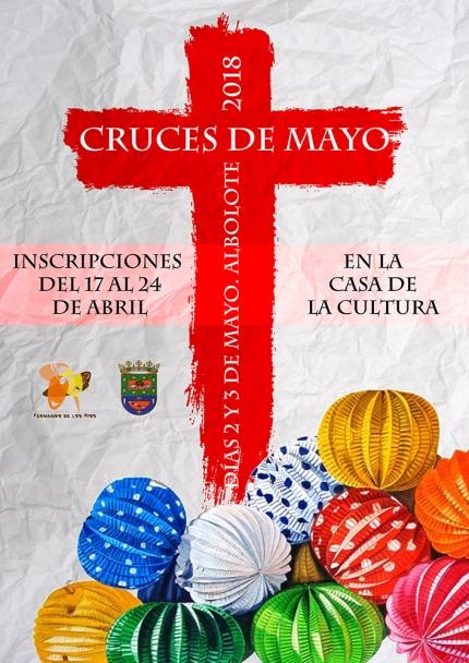 Cartel anunciador de las cruces 2018.