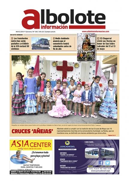 Portada de Albolote Informacion de la primera quincena de mayo.