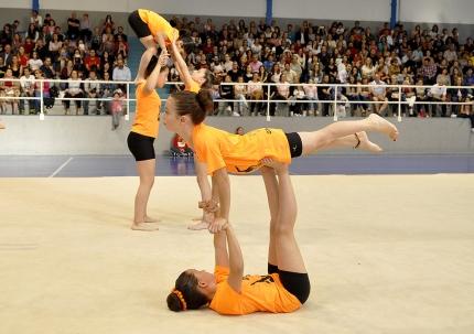 Un grupo de alumnas durante uno de sus ejercicios