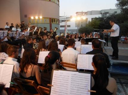 Actuación de la Banda en el ciclo del pasado año
