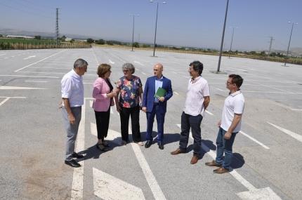 Autoridades en la inauguración del parque disuasorio del metropolitano