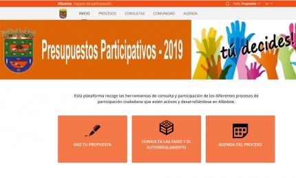 Portal web municipal habilitado para la presentar propuestas online.
