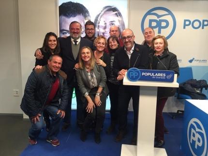 Noche electoral en la sede local de Partido Popular