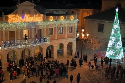 Una imagen del comienzo de 2019 desde la plaza de España de Albolote