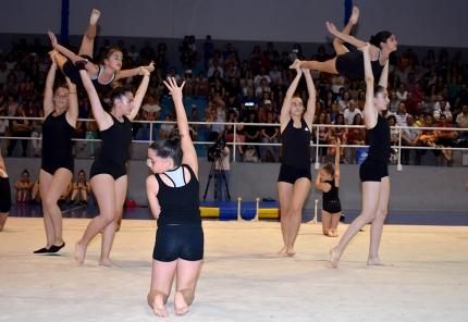 Una de las muchas coreografías que se vieron a lo largo de la exhibición