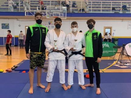 Representación del Club Baransu de Albolote en el Campeonato de Andalucía de Judo